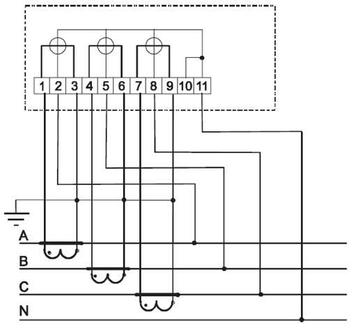 Схема щита учета электроэнергии с трансформаторами тока