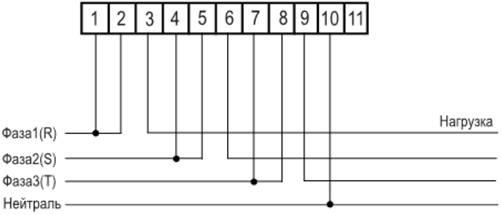 Схема включения счетчика се 301