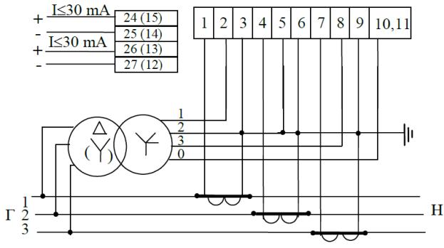 Схема подключения счетчиков СЕ
