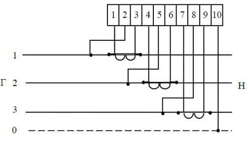 Схема включения счетчиков СЕ