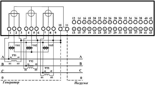 Схемы подключения счётчиков к