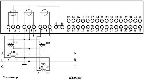 Схема подключения счётчика