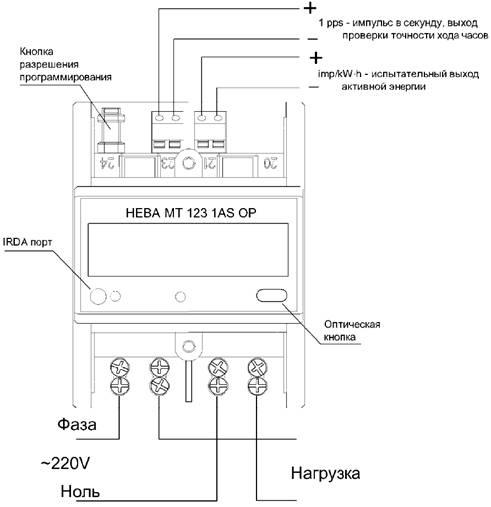 Схема подключения счётчиков