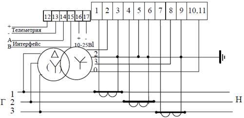 Схема подключения счетчиков ЦЭ