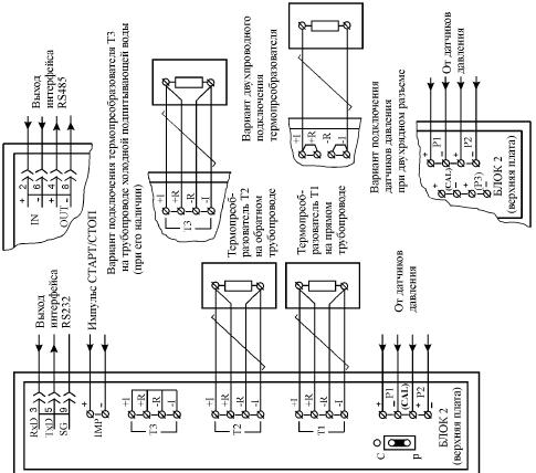 схема теплосчетчика, схема