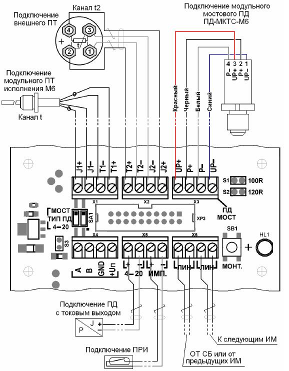 Схема подключений для ИМ с