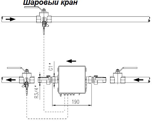 Схемы установки в систему